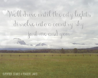 Country Sky with Quote - Landscape Photography