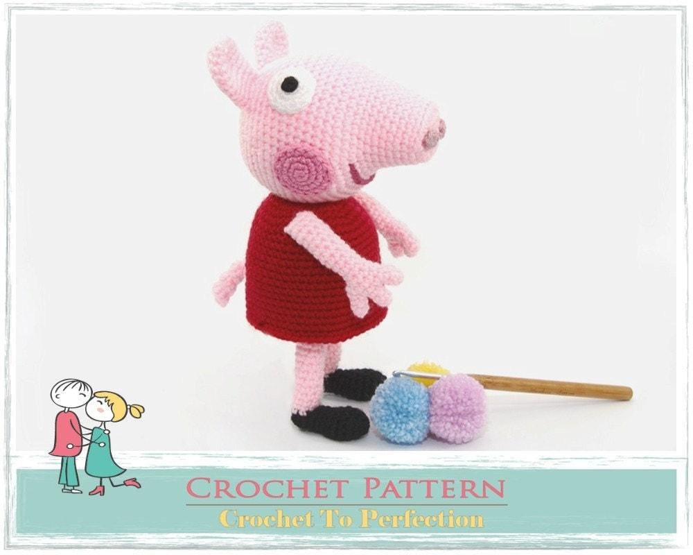 Amigurumi Peppa Pig Tutorial : Amigurumi PATTERN Peppa Pig Crochet Amigurumi by TatieSoftToys