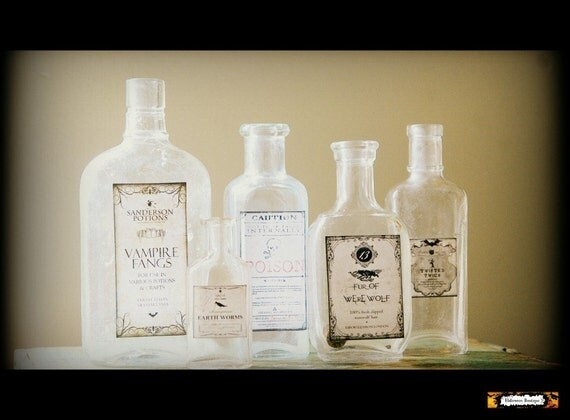 5 halloween potion bottles halloween apothecary bottles for Halloween medicine bottles
