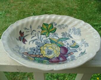 Vintage Royal Doulton The Kirkwood Multi Color Vegetable Serving Bowl England 339