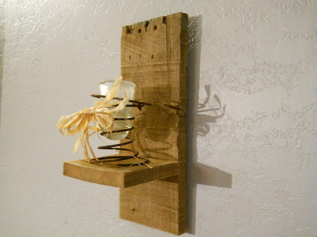 Candle Wall Sconces Rustic : Rustic Candle Wall Sconce SCN002