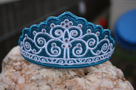 Tiara Crown Hairband Headband Slider In The Hoop Machine