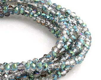 2 mm Crystal Vitrail Medium Crystal glass Rondelle Faceted Beads - about  90 pcs (C2012 - FikaSupplies)