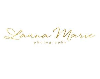Pre-made Logo Design & Photography Watermark - Cursive Logo Template - Typography Logo - Photography Logo - Gold Watermark - Gold Logo 708