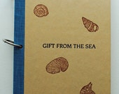 Gift From the Sea Altered Book Journal. Art Journal, Mixed Media Art Journal
