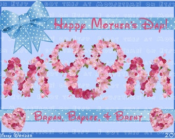 MAGNET - Mother's Day Hearts and Flowers Magnet! - Stateroom Door Magnet