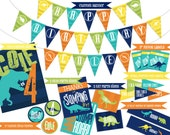 Dinosaur Party Coordinating Printables (Includes Banner, Signs, Labels and more!)