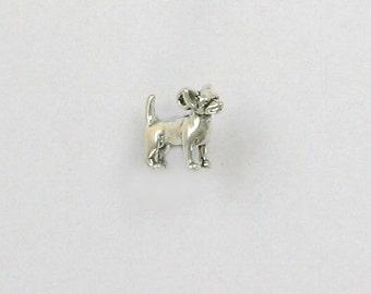 Sterling Silver Miniature Chihuahua Charm - dc90