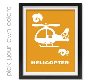 Baby Girl Helicopter Nursery Art Chopper Nursery Print Baby Room Airport Vehicle Nursery Wall Art Baby Nursery Wall Art Toddler Art Skye002