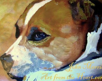 Dogs on canvas