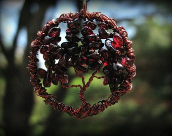 Garnet Tree of Life, January Birthstone