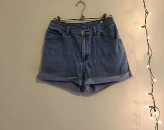 Blue Jean High Rise Shorts