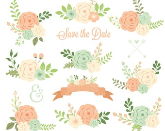 Flower Clip Art Peach Cliparts
