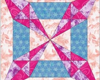 Sedona Star Paper Piece Template Quilting Block Pattern PDF