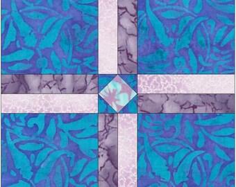 Cross 2 Paper Piece Templates Quilting Block Pattern