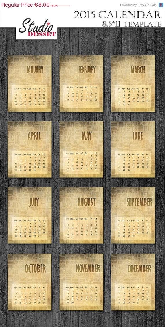 Typography Calendar Download : Sale calendar typography by studiodesset
