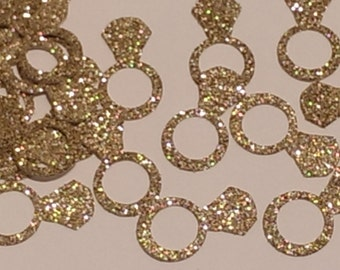Rings Gold Table Scatter- Confetti- Bridal Shower Decor- Gold Decor-Table Scatter Wedding Decor-Gold Ring Wedding Decor