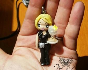 Necklace Chibi Doll Waitress/waitress 1