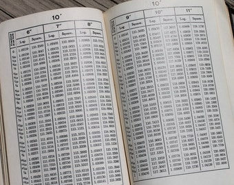 Vintage 50s Smoley's Parallel Tables of Logarithms and Squares