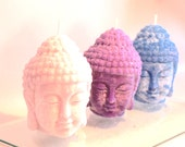 Valentine's Day Gift Chakra Candles Buddha Head 3x4 Candle, Pick your fragrance! Natural Sustainable Palm Wax Buddha Yoga Space Decoration