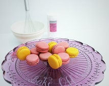 Personalised Cake Stand BFF pink vintage style glass cake stand, Bake Off prize, wedding cake, cupcakes, glass engraving your message (CS02)