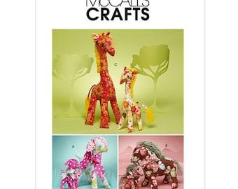 McCall's Sewing Pattern M6136 Retro Lamb, Horse, Giraffe in two sizes Uncut