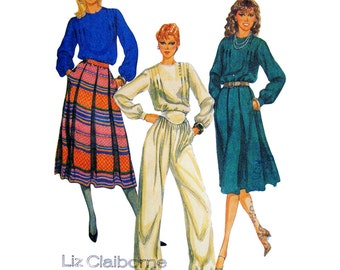McCall's Sewing Pattern 8194 Misses' Blouse, Skirt, Pants Size:  8  Uncut