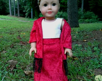 american girl doll maxi skirt and kimono