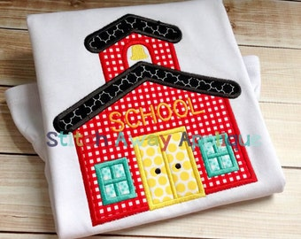 Schoolhouse Back to School Machine Applique Design