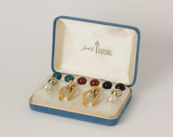 Vintage Jewels by Trifari Interchangable Earring Set In Origional Box