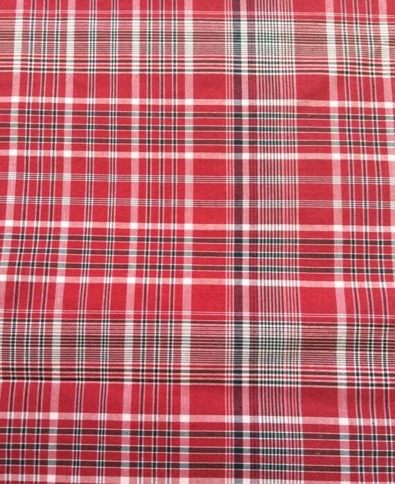 Traditional Jamaican Bandana Plaid Fabric 2 Yards