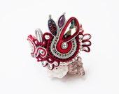 Soutache Bracelet. Soutache jewellery. Soutache handmade jawelry. Soutache handmade bracelet. Handmade soutache bracelet. Gift for her.