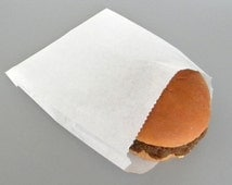 25 qty White Hamburger Bags, Cookie Bags, Party Favor Bag, Picnic, BBQ, Party Supply, Summer Party Supply, Wedding Reception DIY