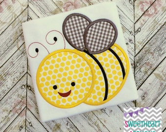 Bumble Bee Applique Design, Bumble Bee Machine Embroidery Applique, Bumble Bee Applique Design 4x4 5x7 6x10 8x8