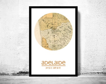 ADELAIDE - city poster - city map poster print