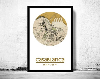 CASABLANCA - city poster - city map poster print