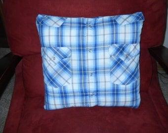 Memory pillow made with your keepsake shirts.   Custom.