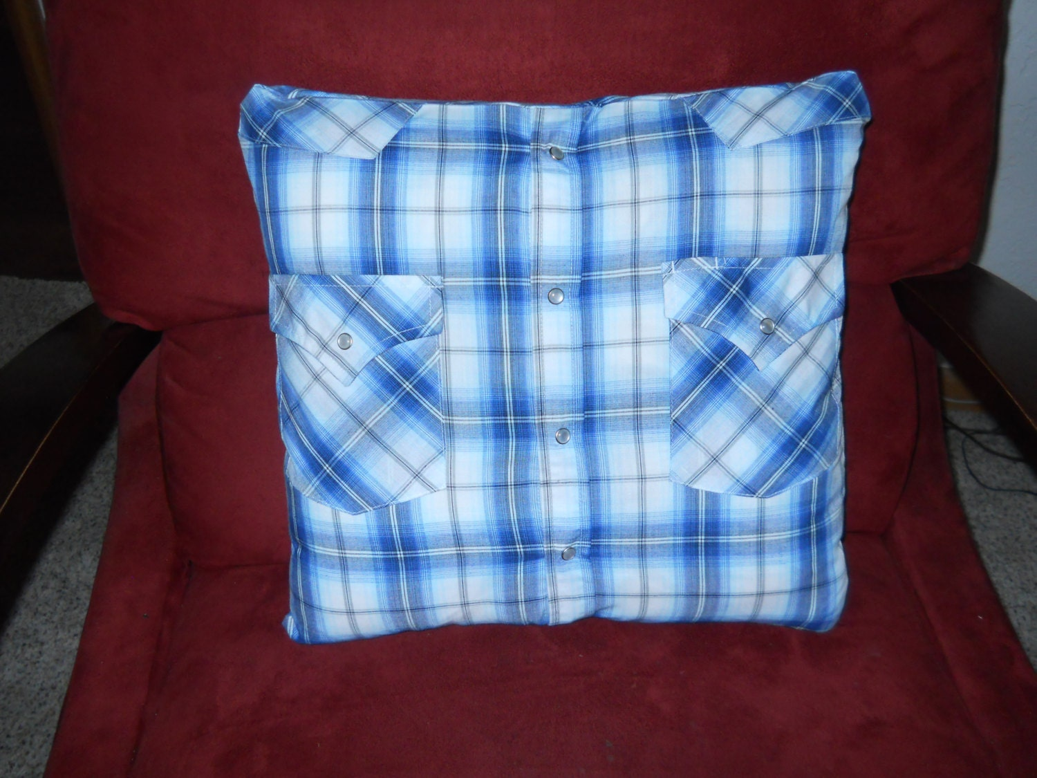 Memory Pillow Made With Your Keepsake Shirts. Custom