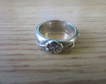 Tiffany & Co. Sterling Silver Rose Band Ring Size 5