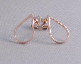 Rose Gold Teardrop,Rose Gold,Earrings,Rose Gold Earrings,Rose Gold,teardrop Earrings,Post Earring,Arrow STud,Stud Earring, Post SeaMaiden