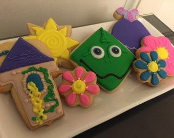 Tangled Themed Cookies