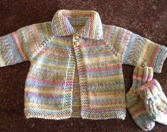 Baby sweater and socks set