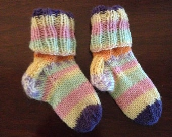 Bright stripes baby socks 3-6 months