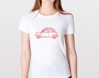 KillerBeeMoto: Limited Release British Engineered Vintage Compact Car Short & Long Sleeve Shirt Cartoon Version