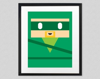 Green Arrow Wall Art for Nursery or Kids Room - Minimalist Justice League Superhero Poster - Oliver Queen - Comic Book Wall Decor - Mancave