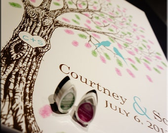 Wedding Guest Book Ideas // Wedding Guest Book Alternative // Fingerprint Tree Guest book alternative Hand sketched wedding tree