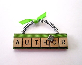 Author Writer Scrabble Tile Ornament