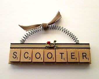 Scooter Scrabble Tile Ornament