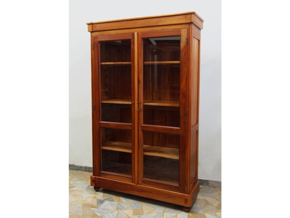 Bookcase in cherry solid wood