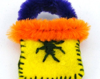 Miniature Felt Halloween Bag.